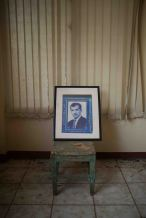 The portrait of Sigfredo Chavez, well-known as the first migrant to USA in the small museum done with donations from Intipuqueños, inside the local culturel center. It has been possible thanks to the fund of intipuqueños abroad. Intipuca, El Salvador - September 26, 2017.