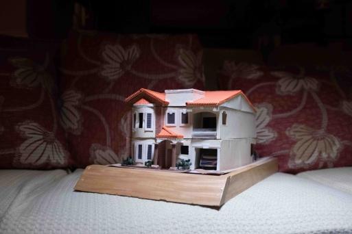 Model of Rosibel'house in Intipuca. Maryland, 2019.